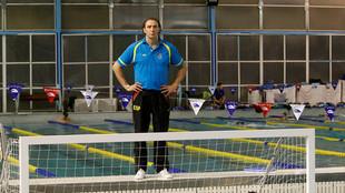 'Chava' Gómez, en su etapa como entrenador del Real Canoe.
