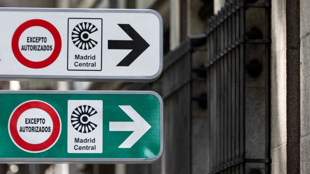 Los coches con etiqueta C podrían quedarse fuera del nuevo Madrid Central