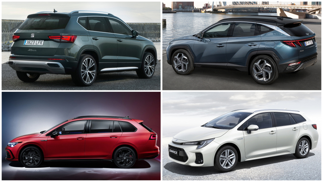 Seat Ateca, Hyundai Tucson, Volkswagen Golf Variant y Suzuki Swace...