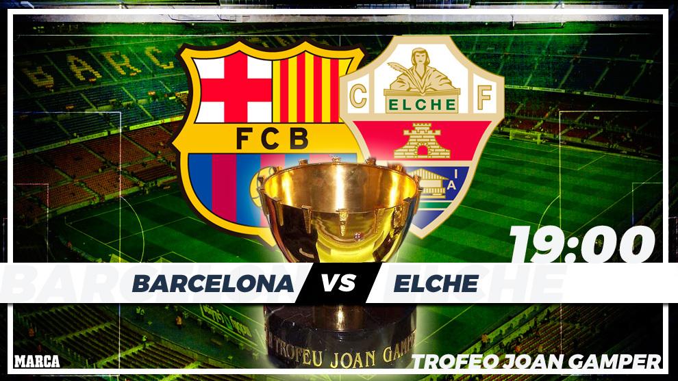 Barcelona - Elche: horario y donde ver por television hoy el trofeo...