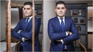 El presidente de AFE, David Aganzo, posa para MARCA durante la...