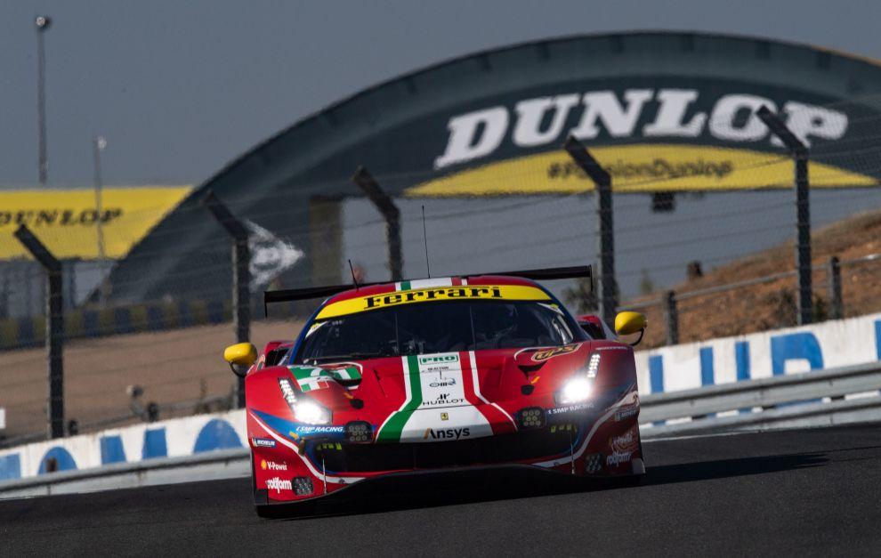Ferrari defiende título, ya que el 488 GTE ya ganó aquí en 2019.