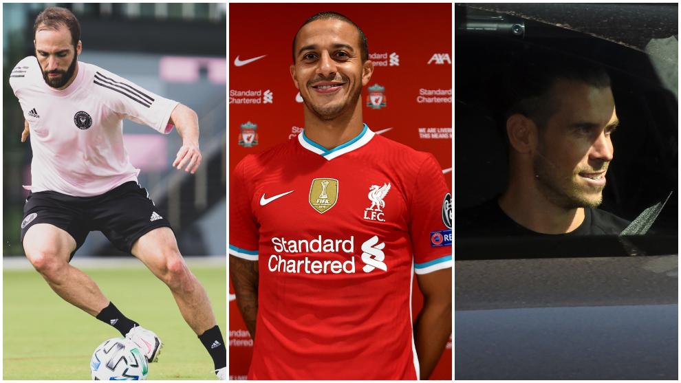 Thiago Alcántara, Gareth Bale y Gonzalo Higuaín son uno de los...