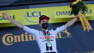 Kragh Andersen en el podio