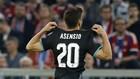 Asensio celebra un gol con el '20', su antiguo dorsal en el Madrid