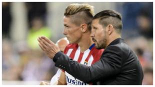 Fernando Torres y Diego Simeone