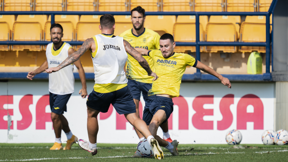 El Villarreal en un entrenamiento esta semana