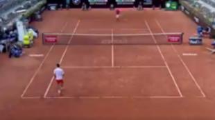 El momento en el que Djokovic romper el saque de su rival