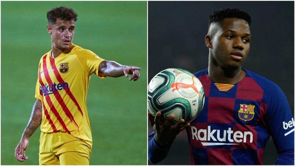 Ansu Fati  y Coutinho, titulares contra el Elche en el Gamper
