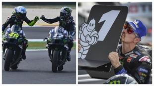 Rossi felicita a Viñales por su segunda pole consecutiva en el...