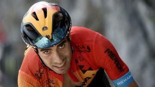 Mikel Landa, durante la etapa.