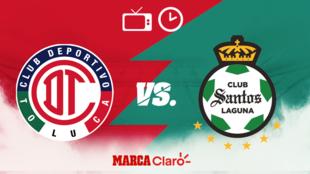 Toluca vs Santos: Horario y dónde ver el partido.