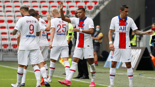 Kylian Mbappé impulsó el triunfo del PSG ante el Niza. |