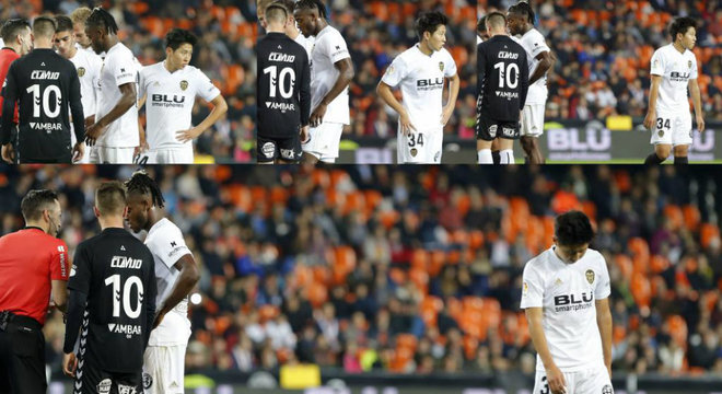Kangin y Batshuayi pelean por una falta en un Valencia-Ebro de...