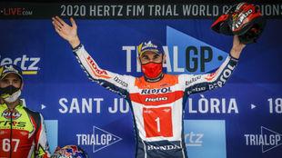 Bou, en el podio de Andorra.