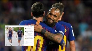 El mensaje de despedida de Messi a Arturo Vidal
