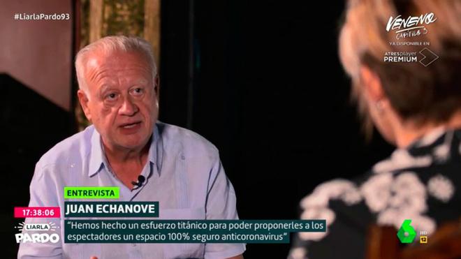 El veterano actor madrileño ha repasado la situación de España...