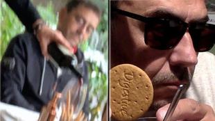 Monedero ridiculiza su comida de 'Cayetano'... con respuesta de Figo incluida