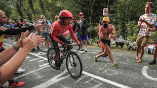 Nairo Quitana durante la contrarreloj del Tour.