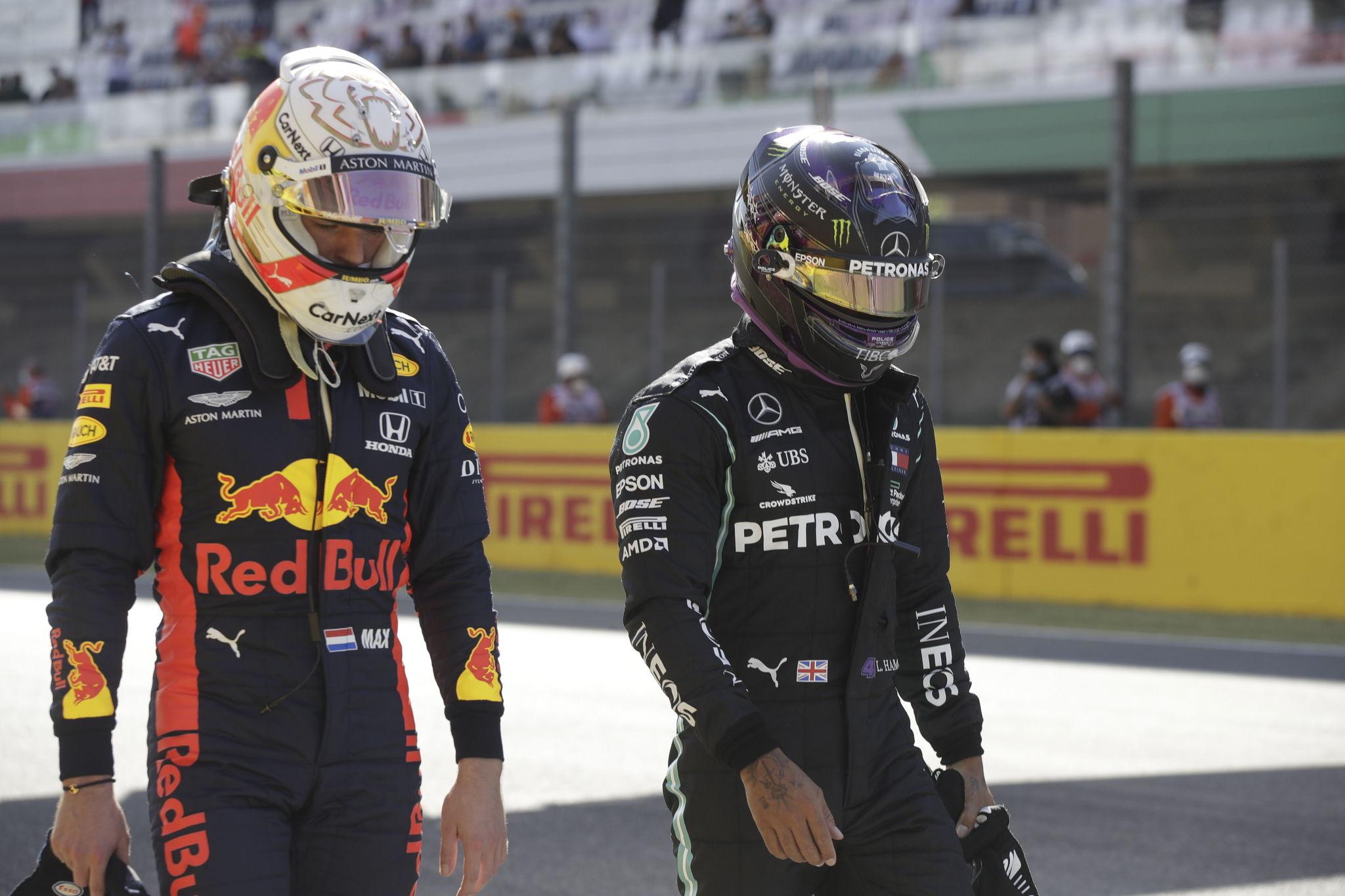 Verstappen y Hamilton, en Mugello.