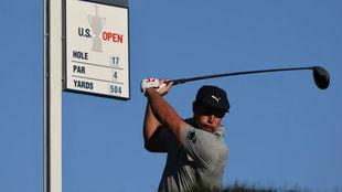 Bryson DeChambeau, en la última jornada del US Open de golf.