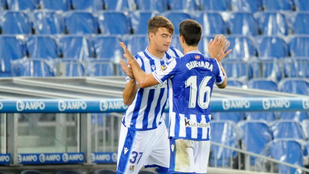 Urko González de Zárate, en el momento de su debut con la Real en...