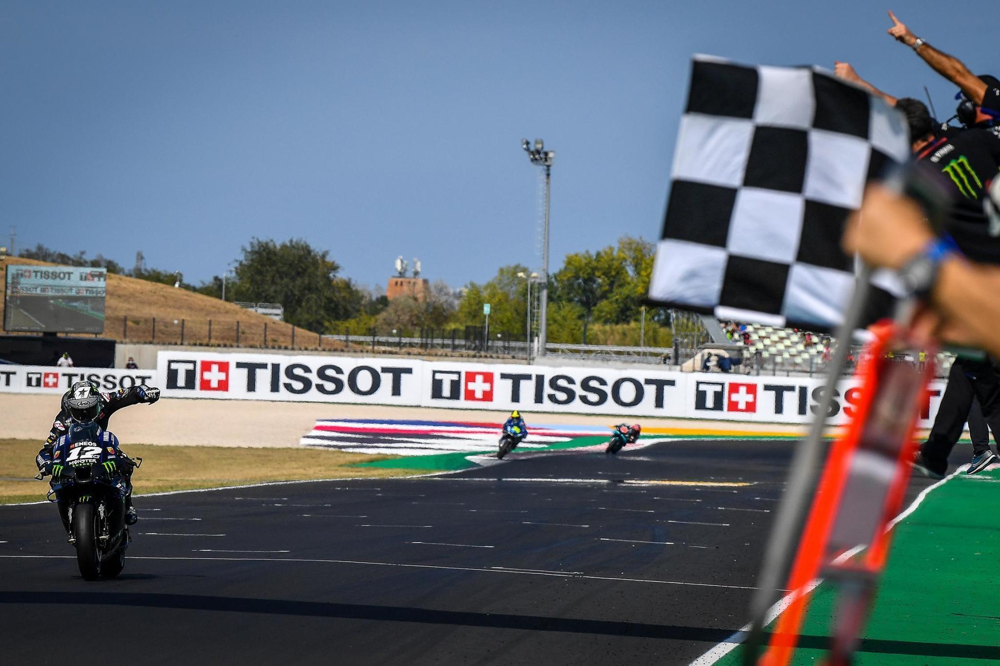 Maverick lt;HIT gt;Viñales lt;/HIT gt;, ganador del GP de Emilia Romagna Firma: MotoGP.com
