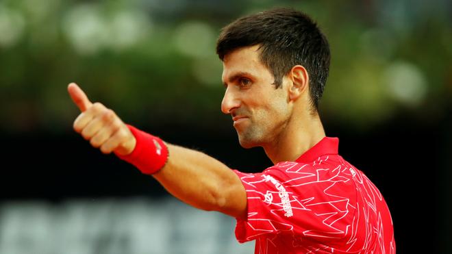 Novak Djokovic en el Masters 1.000 de Roma.
