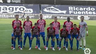 Este es el once titular del Sporting en Cartagonova... con siete...