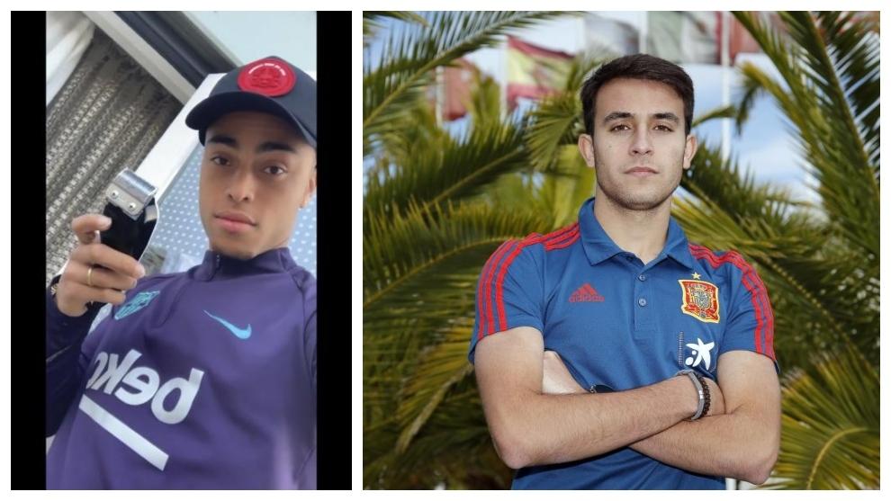 Sergiño Dest y Eric García.