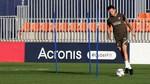 La cúpula del Atlético, en el entrenamiento sin Morata