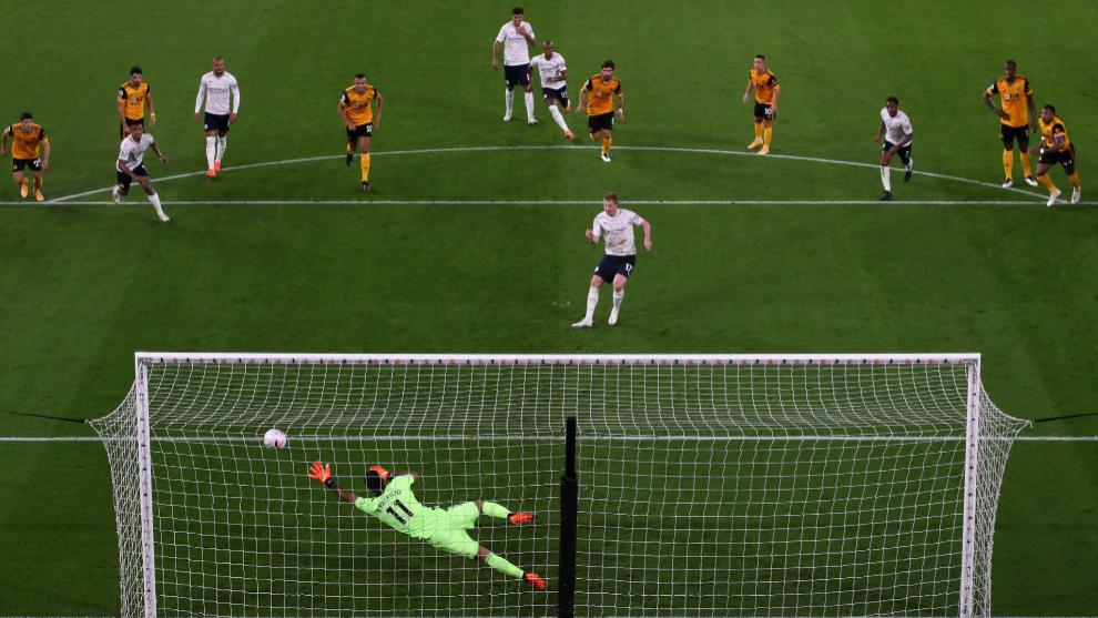 De Bruyne abrió el marcador desde el punto de penalti