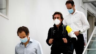 Fernando Alonso, en Enstone.