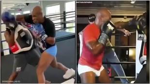 Mike Tyson aun tiene derechazos para tumbar al 90% de la población mundial