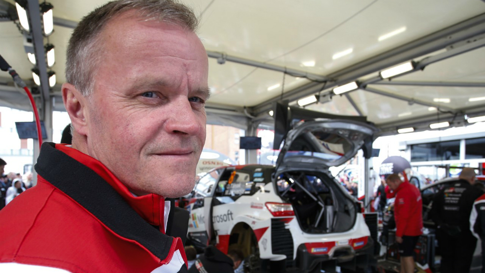 Mäkinen es el único campeón del Mundial de rallies que ha dirigido...