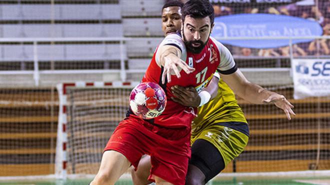 Un momento de un partido de la Liga Asobal /