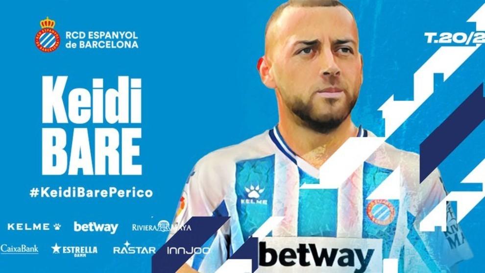 Oficial: Keidi Bare firma por el Espanyol