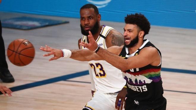 Jamal Murray se apuntó 28 puntos para borrar los 30 de LeBron James...