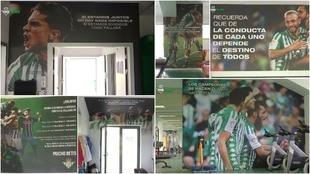Carteles con mensaje en la Ciudad Deportiva