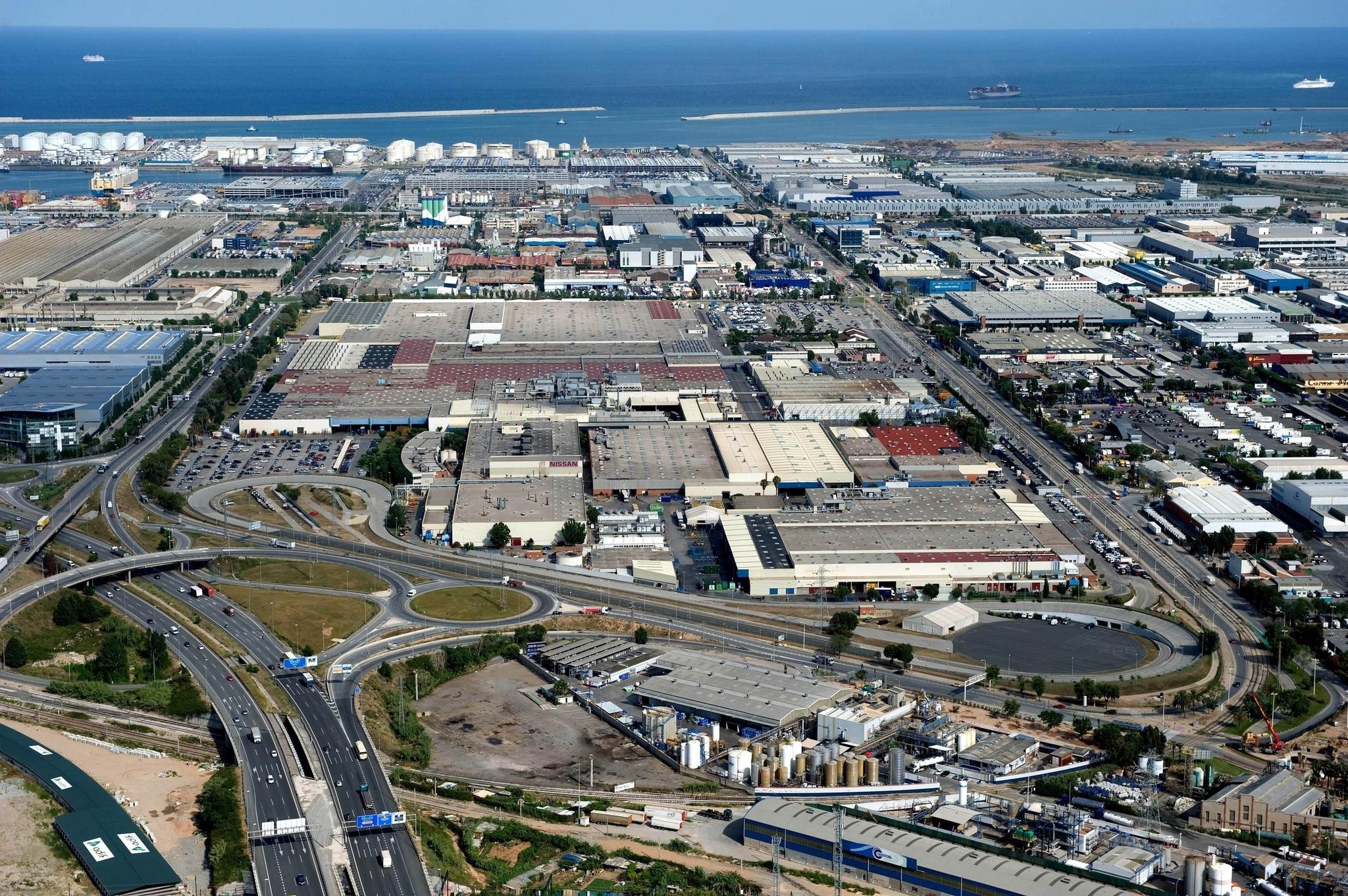 La planta de Nissan en la Zona Franca de Barcelona.