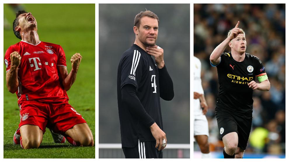 Lewandowski, Neuer y De Bruyne, los tres nominados al jugador del año...