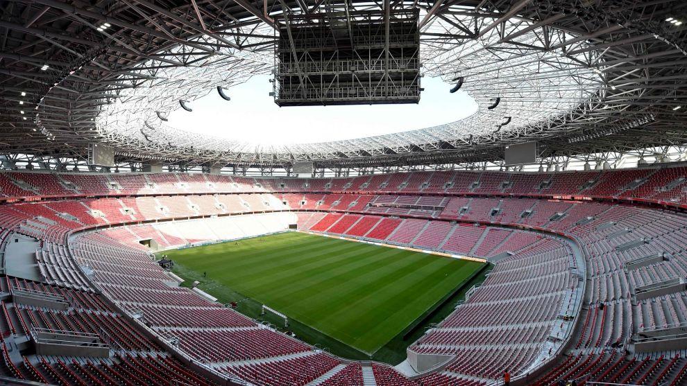 Estadio Puskás Aréna de Budapest, sede de la Supercopa de Europa...