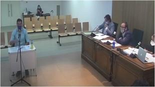 Íñigo López, durante su declaración ante el juez del caso Oikos.
