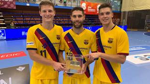 Dolenec, Janc y Makuc, los tres jugadores eslovenos del Barça que...