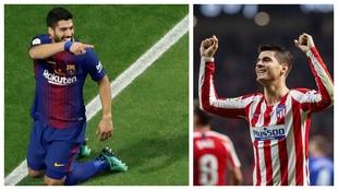 Luis Suárez golea a Morata