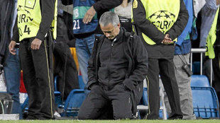 José Mourinho after the elimination by Bayern Munich