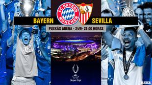 Bayern vs Sevilla hora canal horario tv television supercopa de europa...