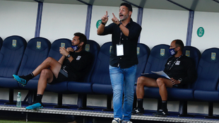 Mere Hermoso, durante el partido entre el Alcorcón y el Tenerife.
