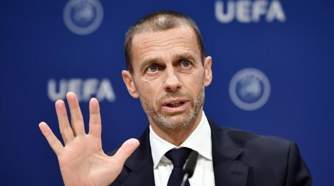 Aleksander Ceferin durante el último congreso de la UEFA celebrado en...
