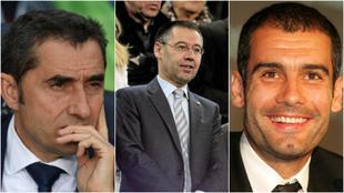 Cómo cambian tras pasar por la 'trituradora' culé: Pep, Valverde, Luis Enrique... y Bartomeu